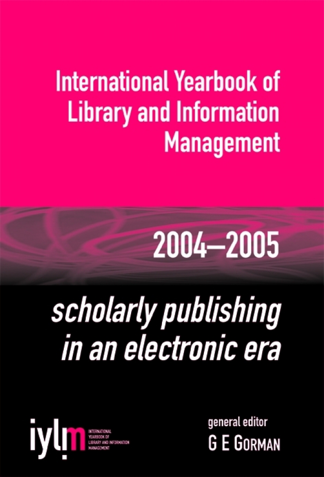 Jacket Image For: Scholarly Publishing in an Electronic Era
