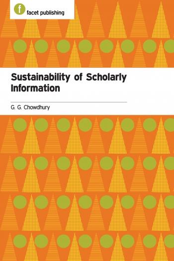Jacket image for Sustainability of Scholarly Information