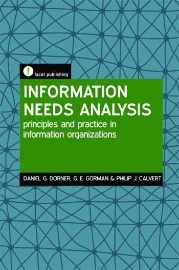 Jacket image for Information Needs Analysis
