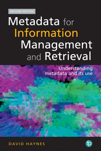 Jacket image for Metadata for Information Management and Retrieval