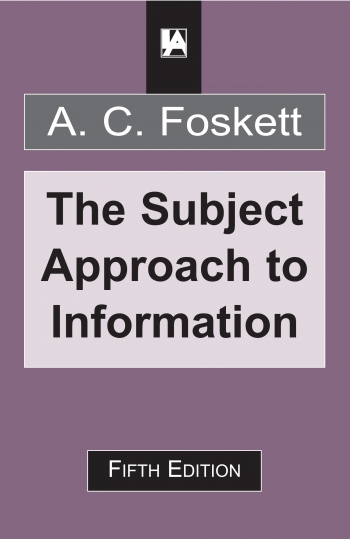 Jacket image for The Subject Approach to Information