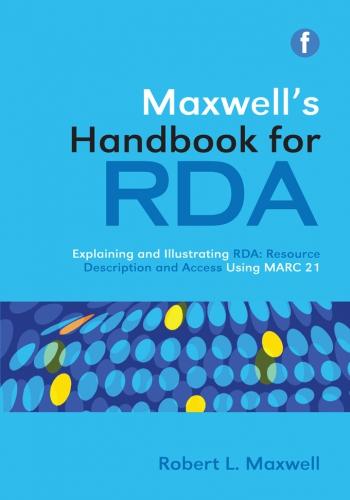 Jacket image for Maxwell's Handbook for RDA